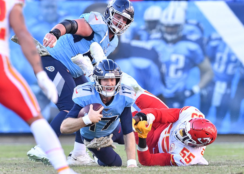 From the second half of the NFL football game between the Tennessee Titans and the Kansas City Chiefs Sunday, Nov. 10, 2019, at Nissan Stadium in Nashville, Tenn.