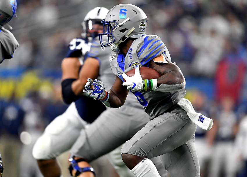 Memphis Tigers running back Patrick Taylor Jr. (6) in action during the first half of the Cotton Bowl NCAA football game between the Memphis Tigers and the Penn State Nittany Lions Saturday, Dec. 28, 2019, at AT&T Stadium in Arlington, Texas.