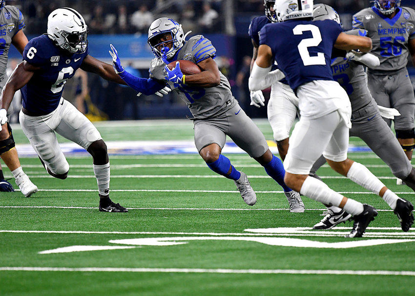 From the first half of the Cotton Bowl NCAA football game between the Memphis Tigers and the Penn State Nittany Lions Saturday, Dec. 28, 2019, at AT&T Stadium in Arlington, Texas.