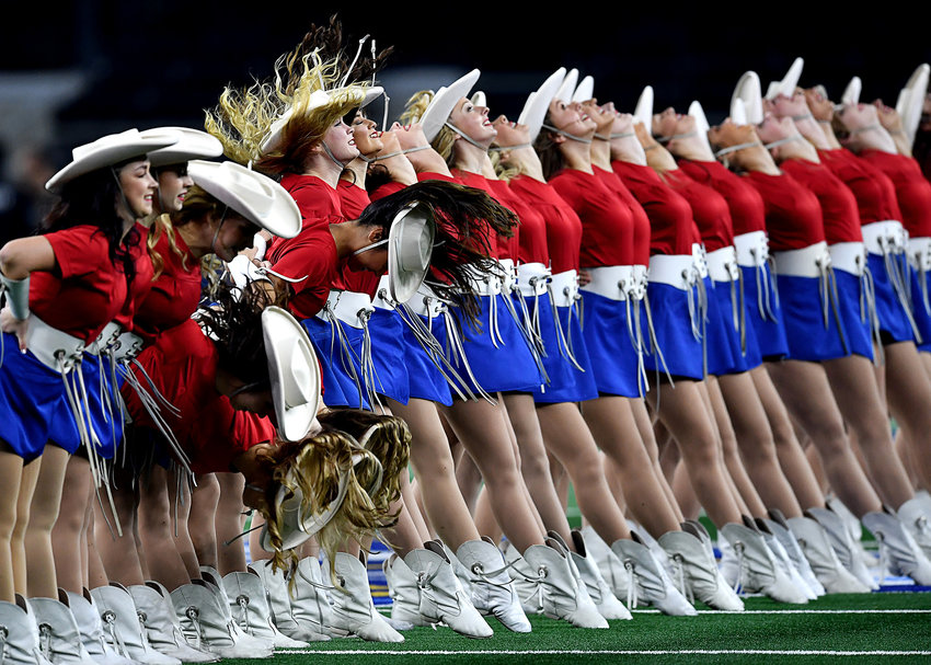 The Kilgore Rangerettes perform during pregame ceremonies at the Cotton Bowl NCAA football game between the Memphis Tigers and the Penn State Nittany Lions Saturday, Dec. 28, 2019, at AT&T Stadium in Arlington, Texas.