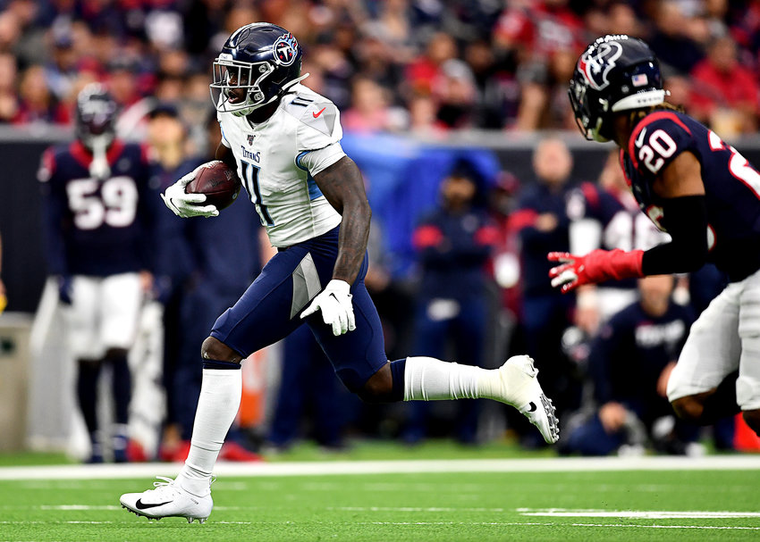 Tennessee Titans wide receiver A.J. Brown (11) during the first half of an NFL game between the Houston Texans and the Titans Sunday, Dec. 29, 2019, at NRG Stadium in Houston, Texas.