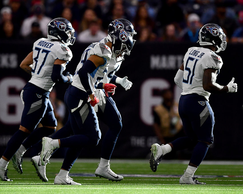 From the first half of an NFL game between the Houston Texans and the Tennessee Titans Sunday, Dec. 29, 2019, at NRG Stadium in Houston, Texas.