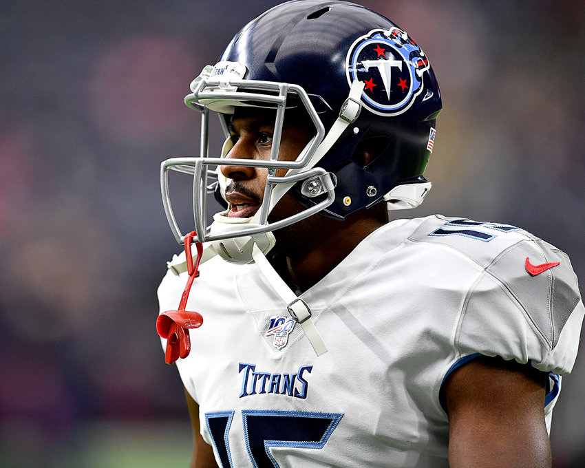 Tennessee Titans wide receiver Darius Jennings (15) during pregame warmup for an NFL game between the Houston Texans and the Tennessee Titans Sunday, Dec. 29, 2019, at NRG Stadium in Houston, Texas.