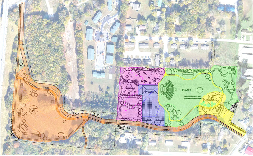 The Algood Park Master Plan has been completed. Officials have phased out the project, but the plan could ultimately change as they proceed with construction.
