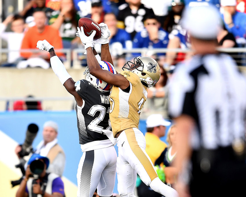 From the second half of the 2020 NFL Pro Bowl football game between the AFC and NFC, Sunday, Jan. 26, 2020, at Camping World Stadium in Orlando, Fla.