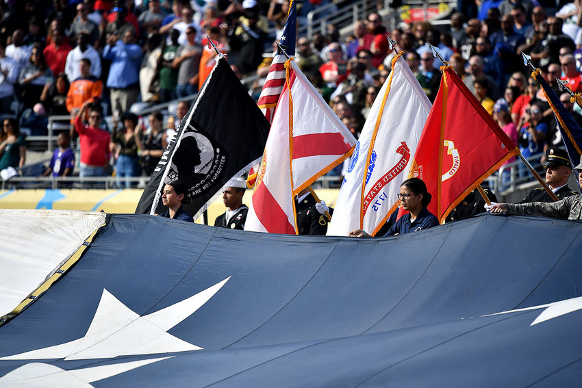 Pregame at the 2020 NFL Pro Bowl football game between the AFC and NFC, Sunday, Jan. 26, 2020, at Camping World Stadium in Orlando, Fla.