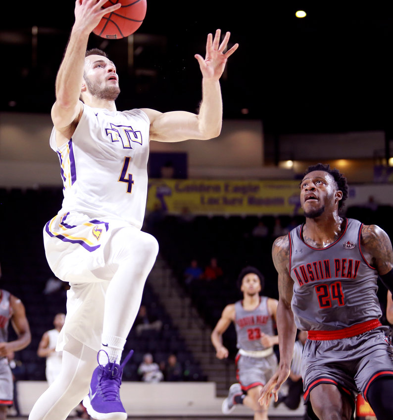 Former Tennessee Tech University basketball standout Aleksa Jugovic, pictured above in a TTU game in 2017, is doing his best to work through the ups and downs of a community shut down by COVID-19. Jugovic currently plays professionally in Serbia.