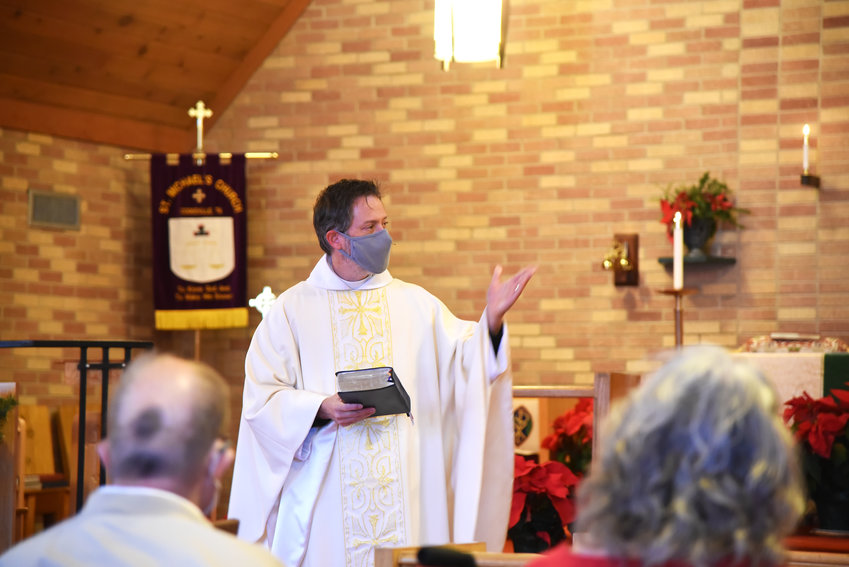 Priest Michael Blaess begins services Sunday at St. Michael's Episcopal Church.