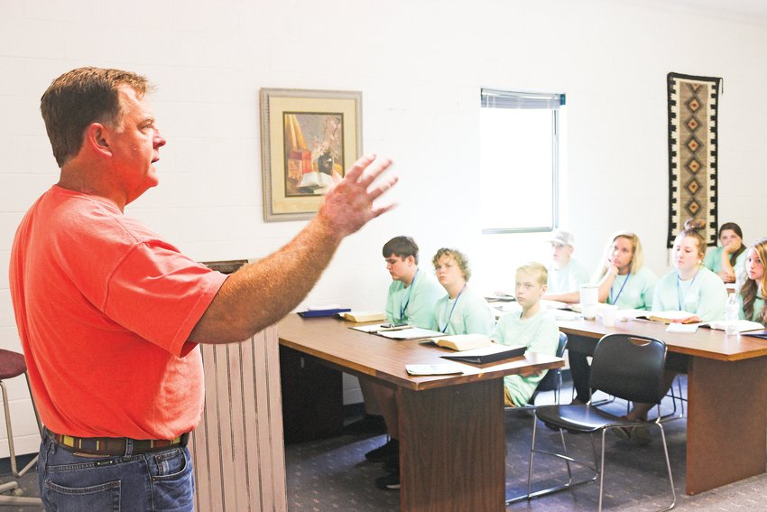 Tennessee Bible College President David Hill teaches a class during a past Truth Bible Camp.