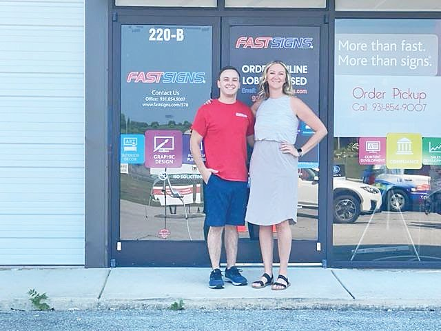 FASTSIGNS of Cookeville is celebrating 10 years in business this year as siblings Katie and James Grosklaus recently inherited the FASTSIGNS center their father first opened.