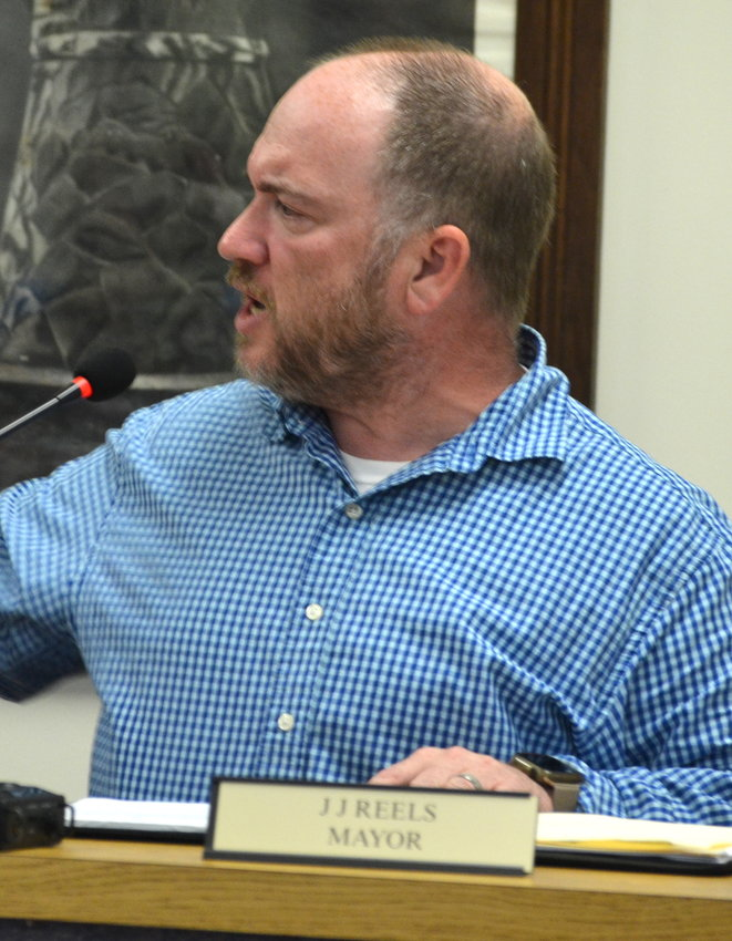Monterey Mayor J.J. Reels responds to criticism from some of the town's Board of Aldermen Monday.