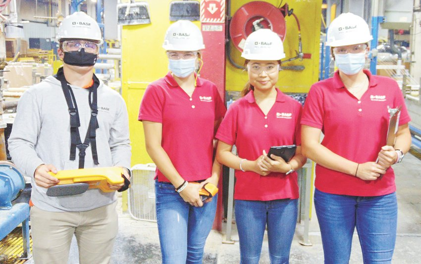 Tennessee Tech students Cassidy Bereda, Benjamin Headrick, Ha Nguyen and Shelby Penning gain real-world experience at BASF in Sparta.