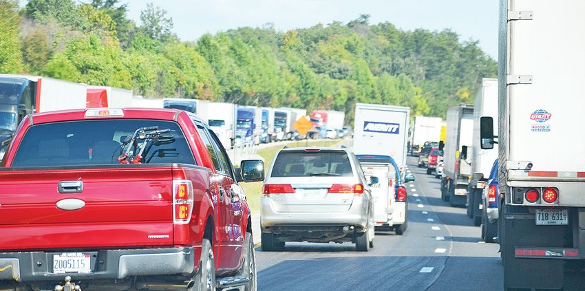 The westbound lanes of I-40 between Cookeville and Monterey were shut down for a time Wednesday afternoon as emergency officials worked a chain reaction wreck involving three tractor trailers near the 293 mile marker.