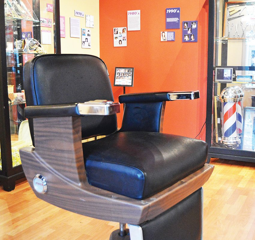 A barber chair from Mr. Wayne's is part of an exhibit continuing through Nov. 6 at the Cookeville History Museum.