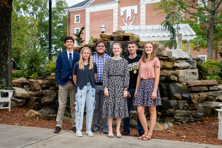 National Merit Finalists in the fall 2021 freshman class at Tennessee Tech are Will Joyner, Abby Fox, Charlie Hasting, Mandy Bacon, Mathias Hagewood and Anna Buchanan.