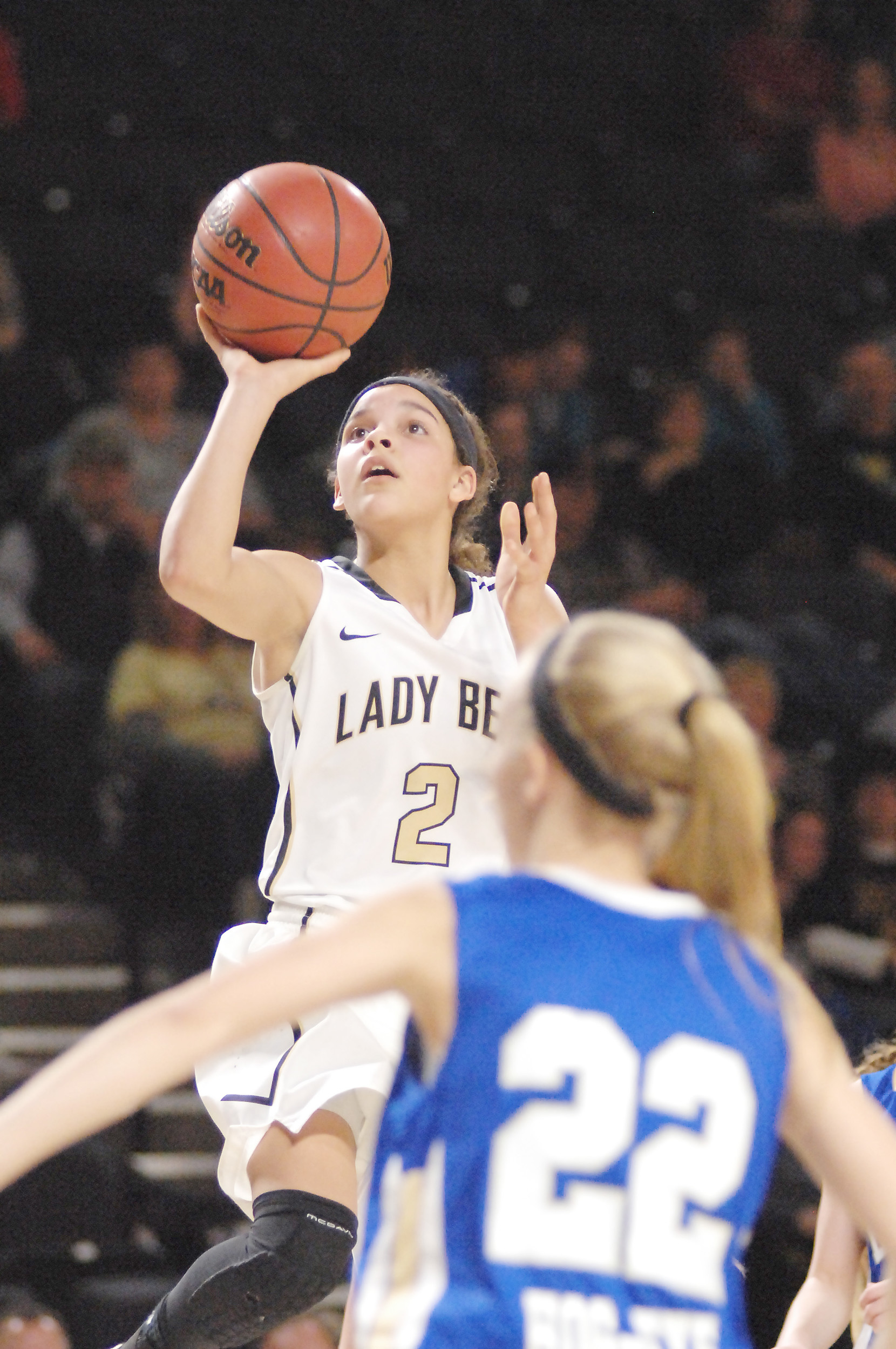 Upperman's Akira Levy goes up for a layup during the District 8-AA ...