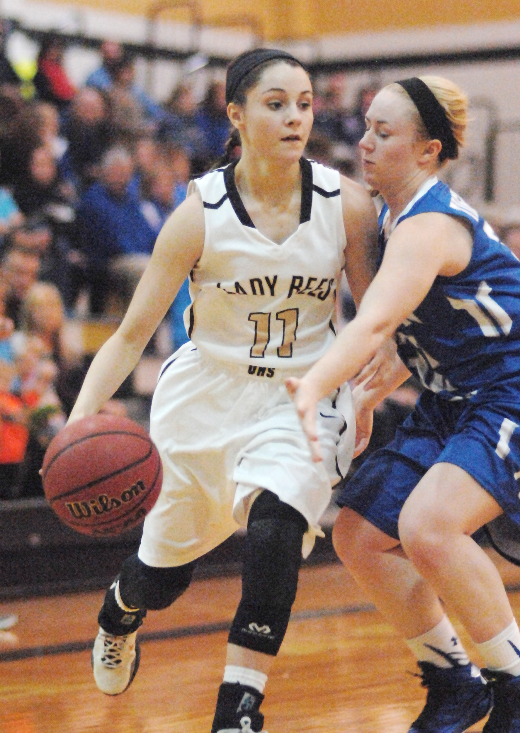 Upperman's Gracie Maynord drivespast a Macon County defender ...