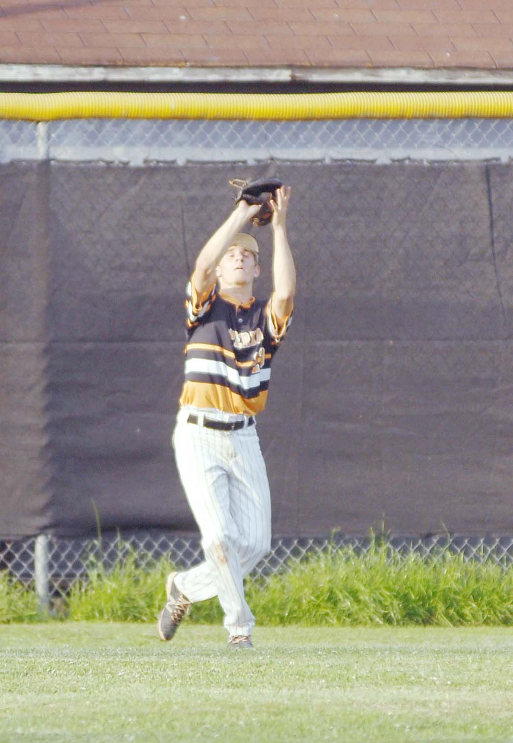 Upperman's Dristan Jared makes a catch during the Bees' 1-0 victory ...