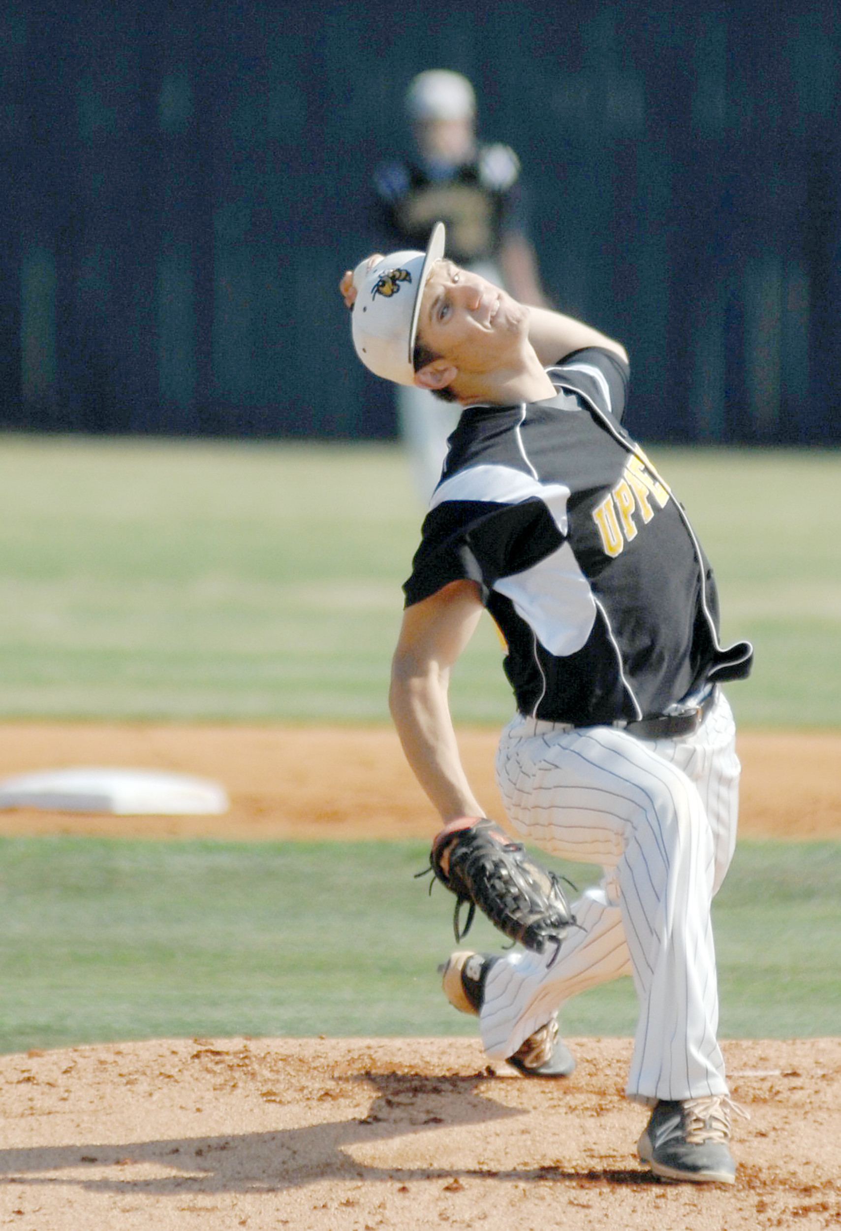 Upperman's Dristan Jared prepares to throw a pitch to the plate during ...
