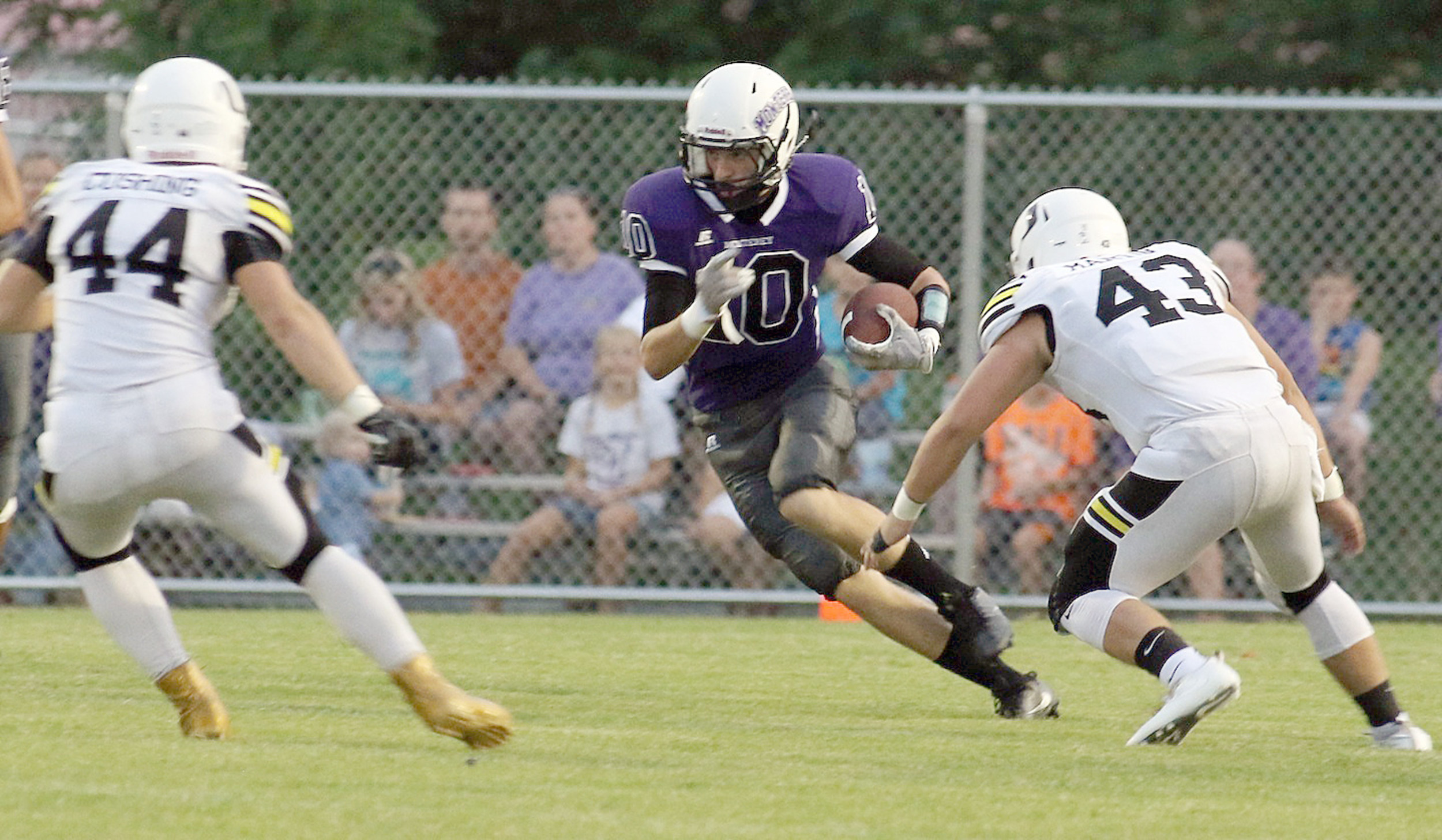 ... cut during the Wildcats' 26-0 loss to Upperman last Friday at MHS