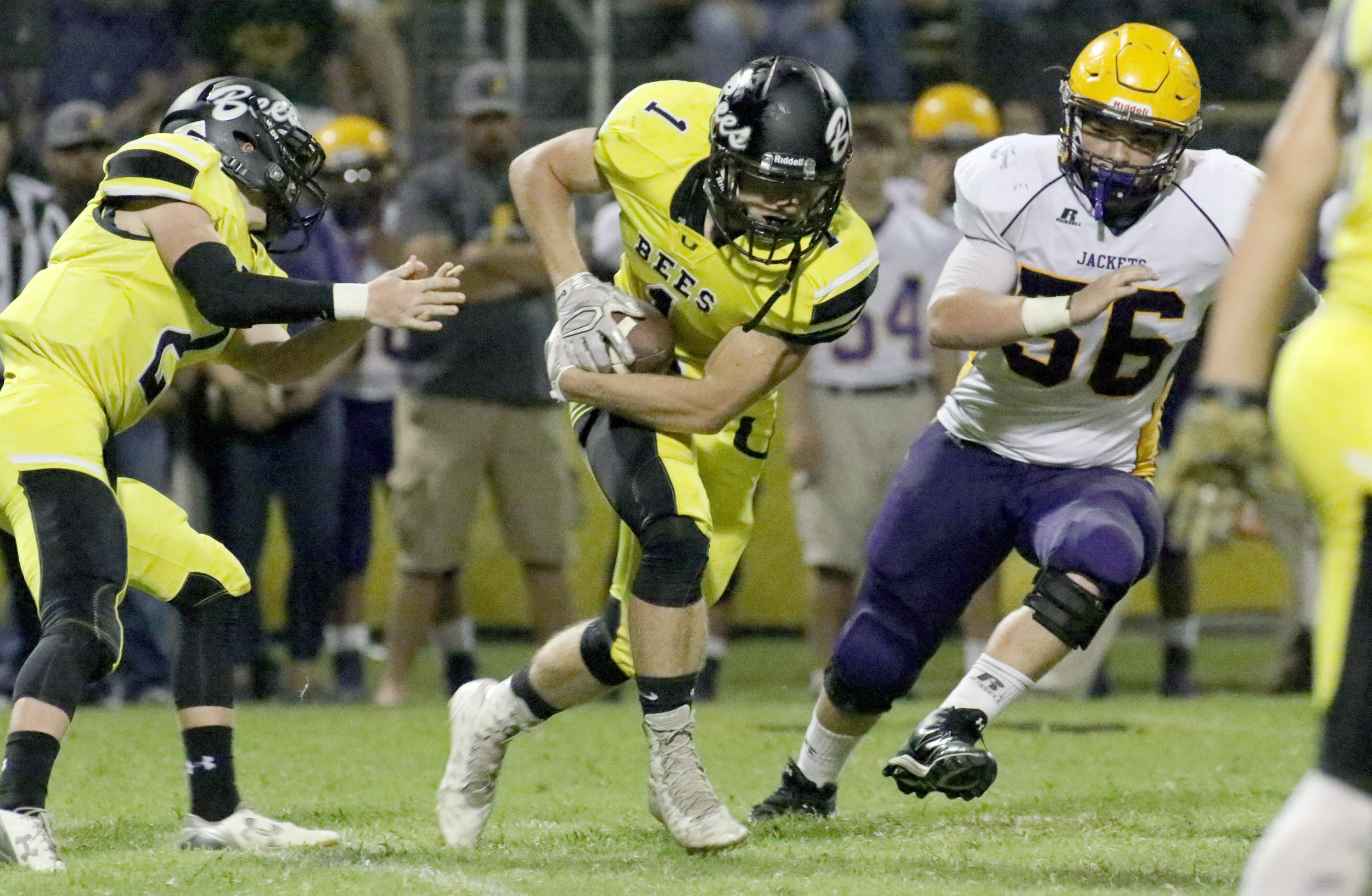 Upperman High School's Cole Pierce, who missed the Bees' last game du...