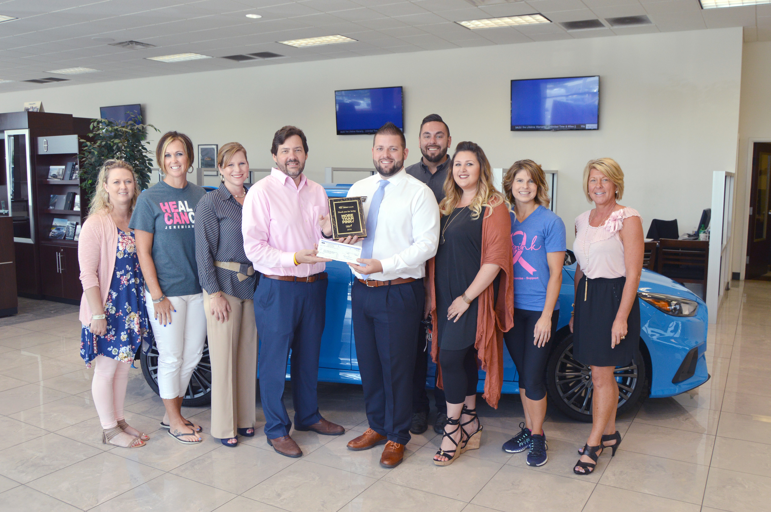 Ford lincoln of cookeville is this years 2017 susan g komen race for the cure survivor