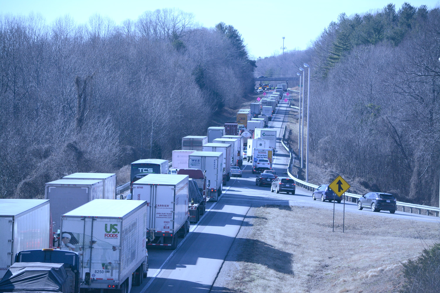 I-40 cleanup from crash slowed I-40 traffic   Herald Citizen