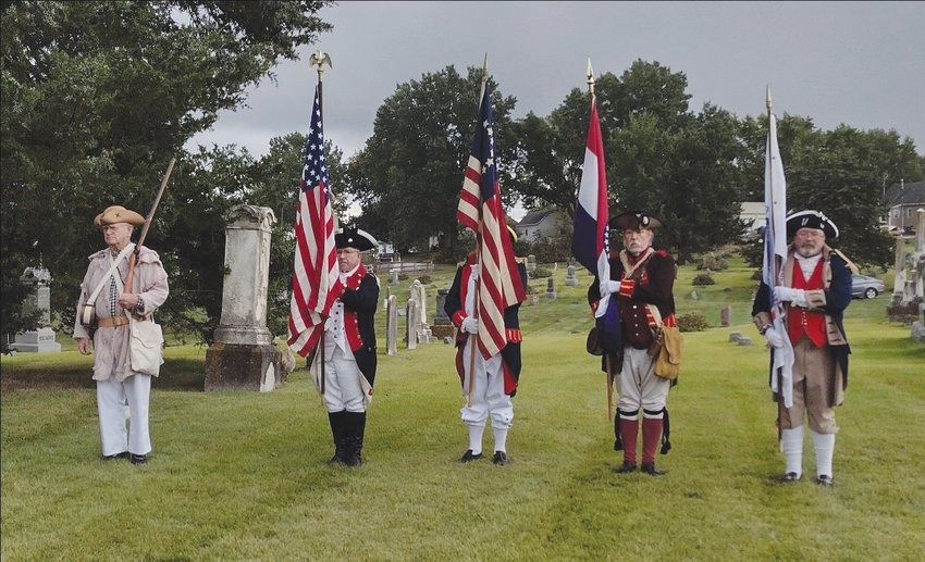A grave marking ceremony was held last week at the Huntsville Cemetery for a Revolutionary War veteran who died and was buried in Randolph County.  Edmund Bartlett was in the Revolutionary War and moved west to Missouri and died in 1836.  The local Daughters of the American Revolution chapter hosted the event with the Sons of the American Revolution chapter who provided the color guard.